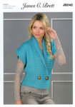 Ladies Waistcoat JB242 James C Brett Oyster Knitting Pattern