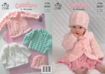 King Cole 3136 Knitting Pattern Coat, Dress, Sweater and Hat in King Cole Comfort Aran