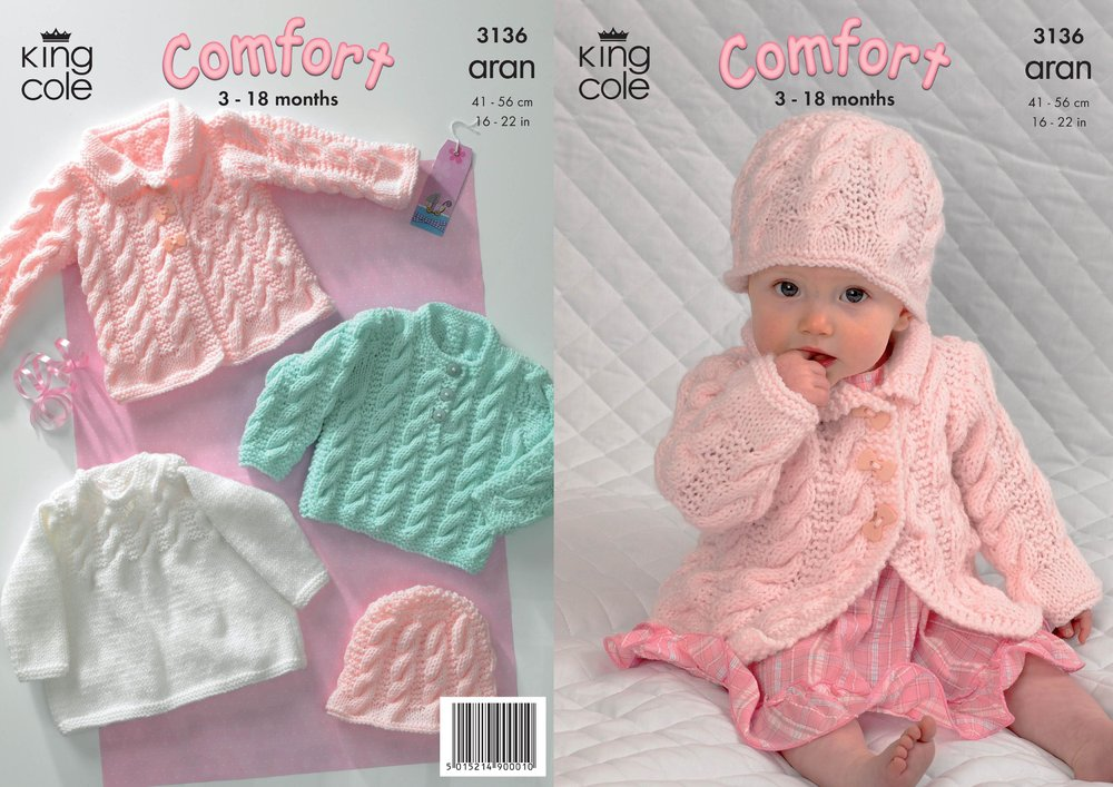King Cole 3136 Knitting Pattern Coat Dress Sweater And Hat In King