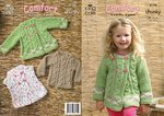 King Cole 3179 Knitting Pattern Baby Girls Sweater and Jackets in King Cole Comfort Chunky