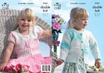 King Cole 3161 Knitting Pattern Baby Girls Cardigan and Jacket in King Cole Melody DK