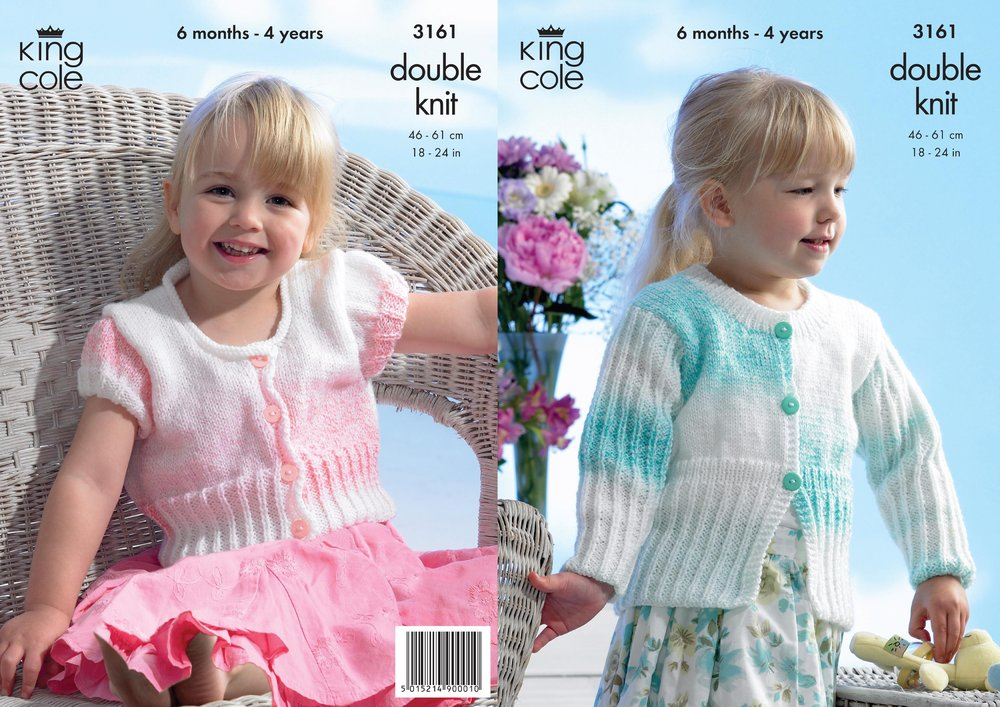 Knitting Jacket For Girl : King cole knitting pattern baby girls cardigan and jacket in