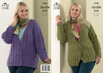 King Cole 3246 Knitting Pattern Cardigan and Jacket in King Cole Merino Blend DK
