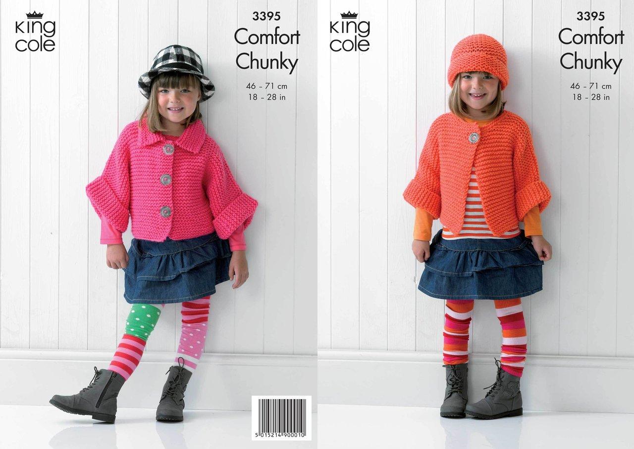 King Cole 3395 Knitting Pattern Childrens Jacket, Hat ...