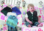 King Cole 3704 Knitting Pattern Babies and Childrens Slipovers & Waistcoats in King Cole Melody DK