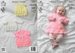 King Cole 3774 Knitting Pattern Jacket, Bolero and Dress in King Cole Baby Glitz DK