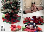 King Cole 9009 Knitting Pattern Rudolph Draught Excluder, Christmas Tree Skirt and Snowman Toy