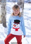 Sirdar 2375 Knitting Pattern Snowman Sweater in Sirdar Wash 'n' Wear Double Crepe DK