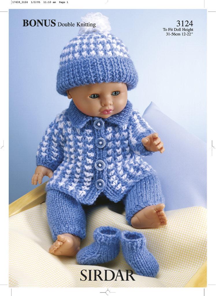 Sirdar Toy Knitting Patterns : Sirdar 3124 Knitting Pattern Dolls Outfit in Hayfield Baby Bonus DK - At...