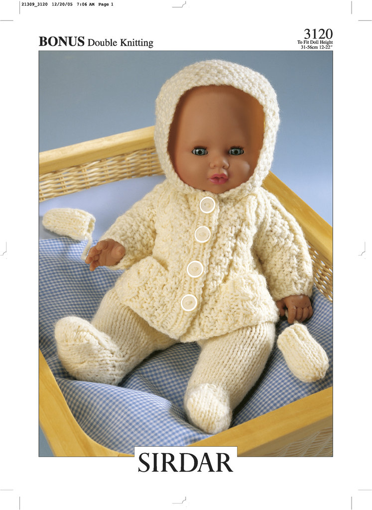 Sirdar Toy Knitting Patterns : Sirdar 3120 Knitting Pattern Dolls Outfit in Hayfield Baby Bonus DK - At...
