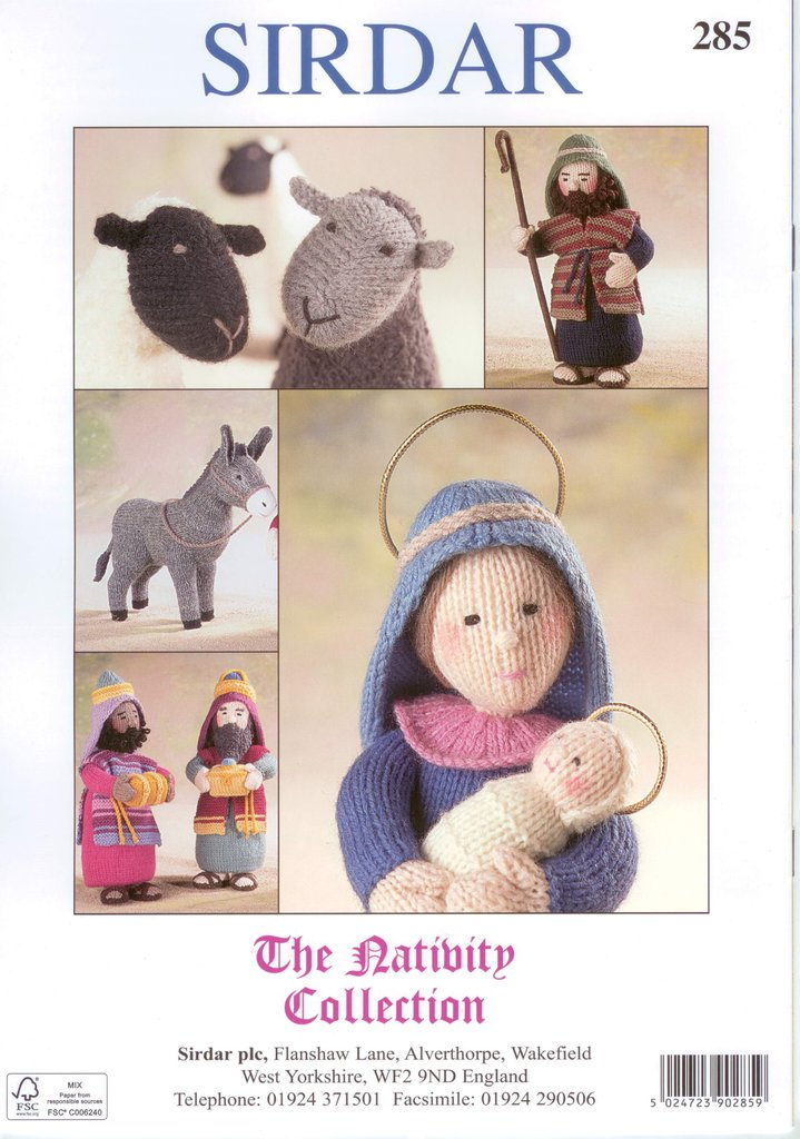Sirdar Knitting Pattern Books : Sirdar 285 The Nativty Collection Knitting Pattern Book by Alan Dart
