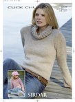 Sirdar 8747 Knitting Pattern Ladies Girls Sweaters in Sirdar Click Chunky