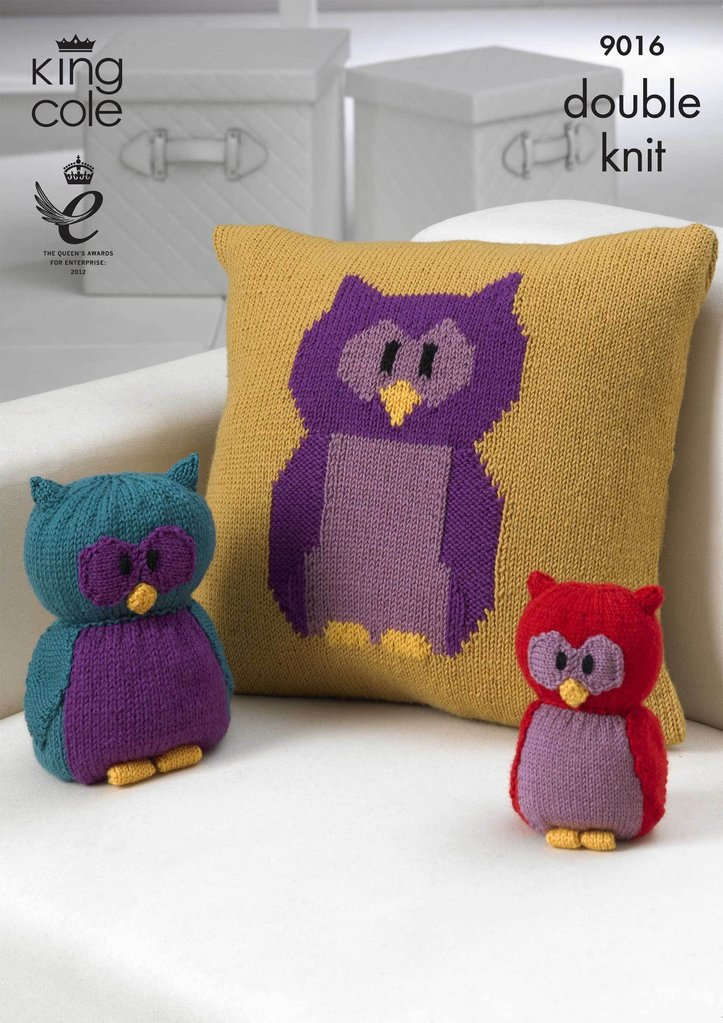King Cole Toy Knitting Pattern : King Cole 9016 Knitting Pattern Owl Collection in King Cole DK - Athenbys