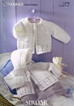 Sirdar 1579 Knitting Pattern Matinee Coats in Sirdar Snuggly DK