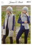 James C Brett JB215 Knitting Pattern Ladies Hats and Scarves in Amazon Super Chunky