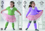 King Cole 3712 Knitting Pattern Girls Ballet Cardigan and Leg Warmers in King Cole Comfort DK
