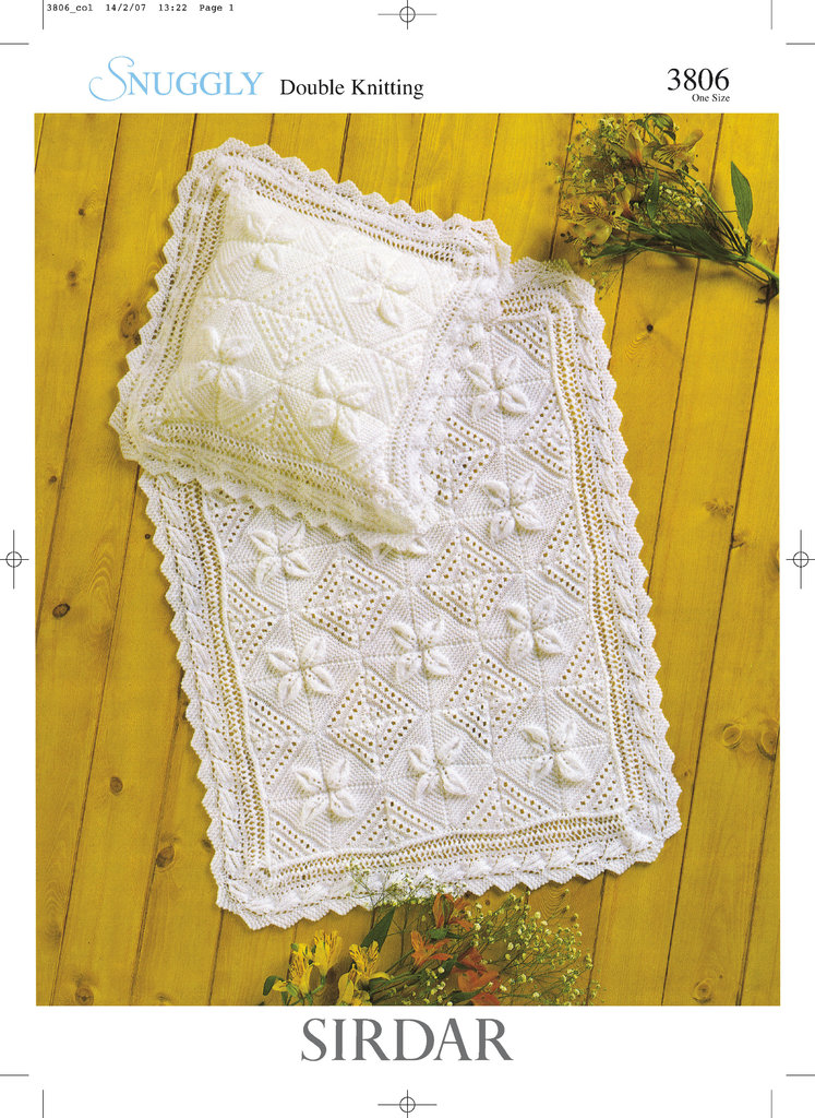 Sirdar 3806 Knitting Pattern Blanket And Pillowcase In