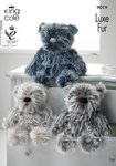 King Cole 9019 Knitting Pattern King Cole Luxe Fur Bears