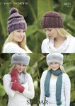 Sirdar 9831 Knitting Pattern Womens Hat Scarf and Mittens in Sirdar Big Softie Super Chunky