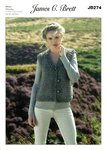 James C Brett JB274 Knitting Pattern Womens Waistcoat in James C. Brett Rustic Mega Chunky