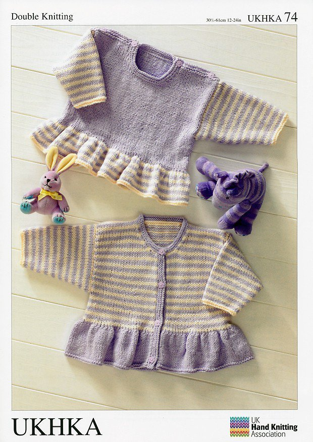 Ukhka Knitting Patterns : Ukhka knitting pattern baby dress and cardigan in