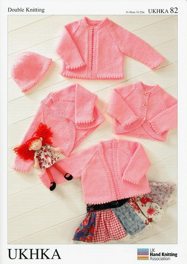 Ukhka Knitting Patterns : Ukhka knitting pattern baby boleros cardigans hat in