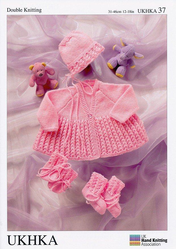8078c7e7c UKHKA 37 Knitting Pattern Matinee Coat