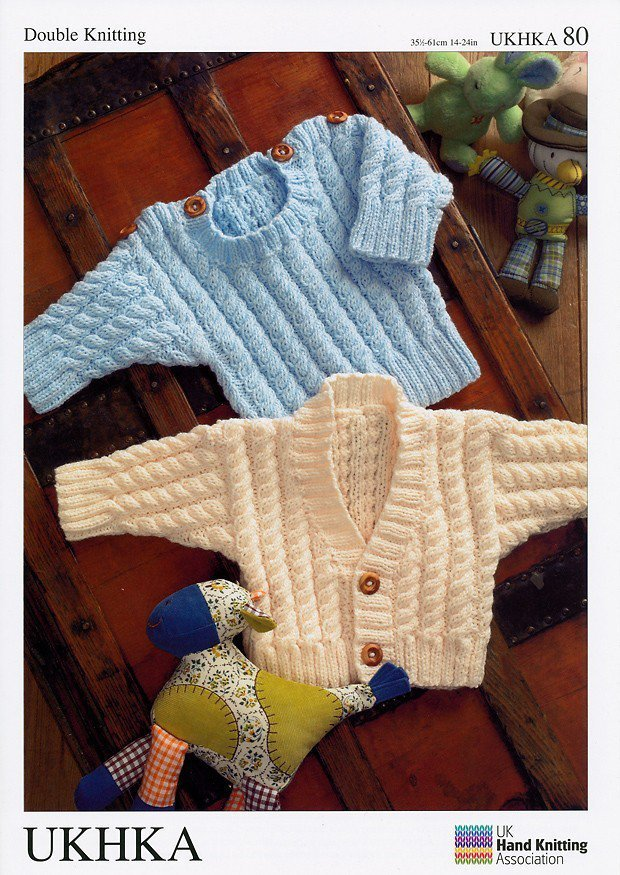 Ukhka Knitting Patterns : Ukhka knitting pattern baby sweater and cardigan in dk