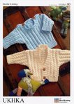 UKHKA 80 Knitting Pattern Baby Sweater and Cardigan in DK