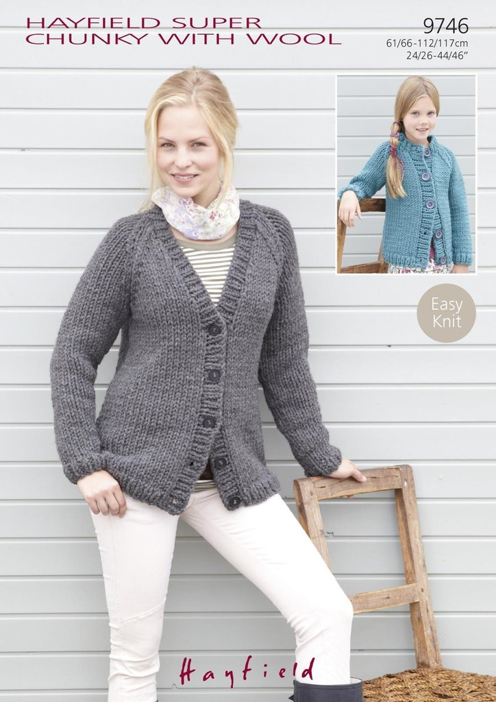 Sirdar 9746 Knitting Pattern Ladies Girls Raglan Cardigans