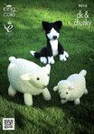 King Cole 9010 Knitting Pattern Sheep, Lamb and Sheepdog Toys in King Cole Chunky & DK