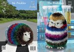 King Cole 9018 Knitting Pattern Professor Owl & Mr Prickles The Giant Hedgehog in Tinsel Chunky