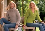King Cole 2986 Knitting Pattern Jacket and Sweater in Magnum Chunky