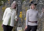 King Cole 3073 Knitting Pattern Womens Jacket and Sweater in King Cole Bamboo Cotton DK