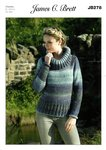 James C Brett JB278 Knitting Pattern Sweater in James C. Brett Lakeland Chunky