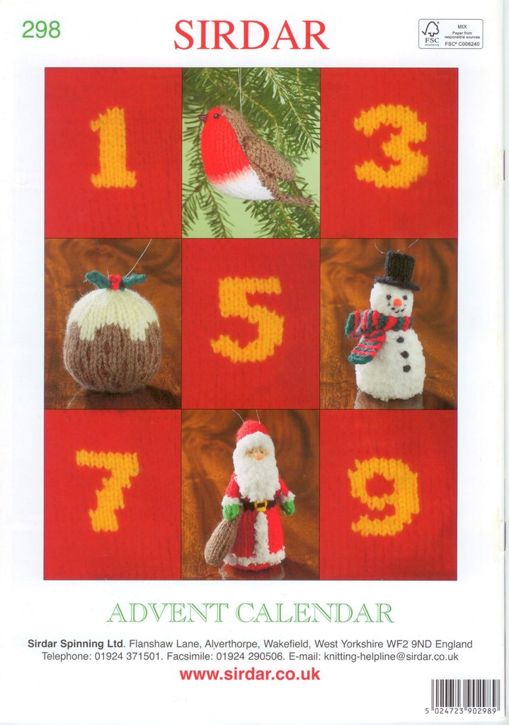 Sirdar Knitting Pattern Books : Sirdar 298 Advent Calendar Knitting Pattern Book by Alan Dart