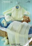 Sirdar 1576 Knitting Pattern Jacket, Hat, Mittens, Bootees and Blanket in Sirdar Snuggly 4 Ply