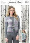 James C Brett JB290 Knitting Pattern Womens Waistcoats in James C. Brett Marble Chunky