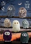 King Cole 9024 Knitting Pattern Baby Owls in King Cole Luxe Fur and Pricewise DK