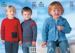 King Cole 2829 Knitting Pattern Childrens  Jacket and Sweaters in King Cole DK