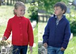 King Cole 3256 Knitting Pattern Childrens Cardigans in King Cole Big Value Chunky