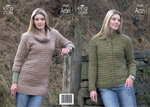 King Cole 3380 Knitting Pattern Jacket and Tunic in King Cole Fashion Aran