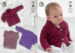 King Cole 3479 Crochet Pattern Collared Cardigan, Sweaters with Long and Short Sleeves and Waistcoat