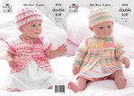 King Cole 3556 Knitting Pattern Coats and Hats in King Cole DK