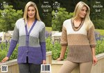 King Cole 3645 Knitting Pattern Cardigan and Sweater in King Cole Baby Alpaca DK
