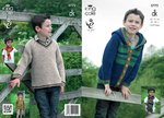 King Cole 3772 Knitting Pattern Hoodie, V-Neck and Scarf in King Cole DkK