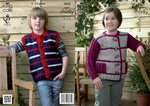 King Cole 3822 Knitting Pattern Jacket and Gilet in King Cole Super Chunky