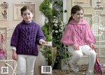 King Cole 3823 Crochet Pattern Cape and Sweater in King Cole Super Chunky