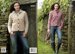 King Cole 3966 Knitting Pattern Girls and Ladies Jackets in King Cole Fashion Aran