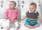 King Cole 3986 Knitting Pattern Angel Top and Pullover in King Cole Comfort DK or 4 Ply
